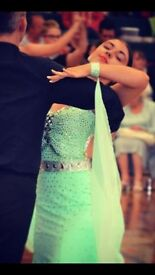 Mint Green Ballroom Dance Dress