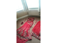 Traditional Asian Wedding Lengha- Beautiful, custom made