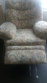 Free chairs one recliner