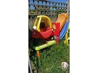 Garden toys car and slide