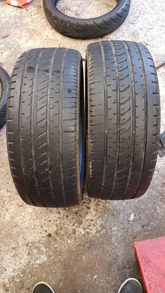 205 45 17 run flat tyres part worn plenty of tread left