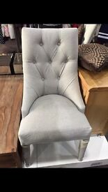 4 Button Back Dining Chairs