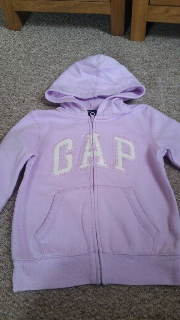 Girls Gap zip up hoodie Age 8-9years