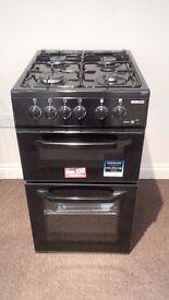 BEKO BDG5181 SINGLE GAS COOKER - BLACK UNWANTED GIFT NEW £250