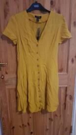 Mustard tea dress