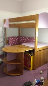 Stompa Cabin Bed with pull out sofa bed and pull out desk