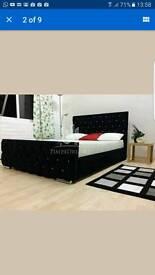Florida diamond fabric bed frame