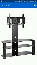 BRAND NEW black glass tv unit/mount