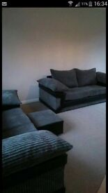 2x3 black and gray sofa