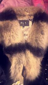 Fox fur collar jacket