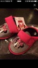 Minnie mouse and Peppa Pig slippers NEW (shoes xmas eve kids toys bargains )