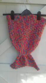 Baby crochet mermaid tails