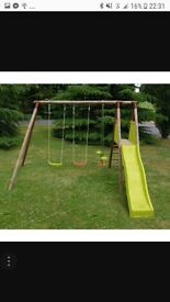 Soulet Wooden Swings Slide and sea-saw activity play centre