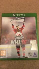 NHL 16 Xbox one game