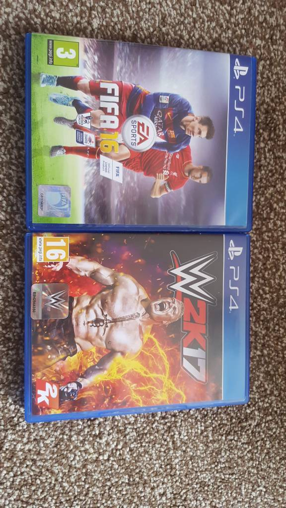 PS4 GAMES 2K17 AND FIFA 16