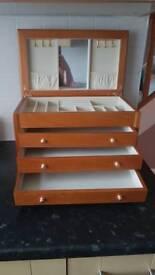 Large wooden jewellery box