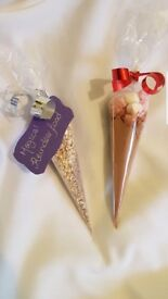 Reindeer food and cadbury hot chocolate cone