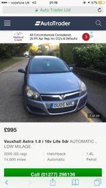 Vauxhall Astra 2005 1.8 auto low mileage