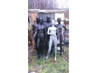 5 mannequins on good condition ,i have only mannequin no metal stand