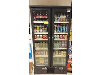 Shop drink chiller cooler fridge double door