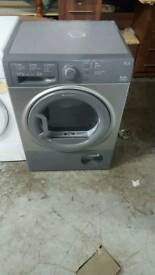 SILVER HOTPOINT 9KG CONDENSER TUMBLE DRYER WITH 3 MONTHS GUARANTEE