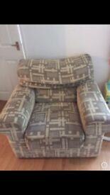 Free 3 seater sofa, arm chair and foot stall
