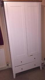 White/Brown Wooden Wardrobe
