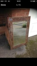 Large next crackle mirror