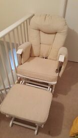 Maternity rocking gliding chair and footstool