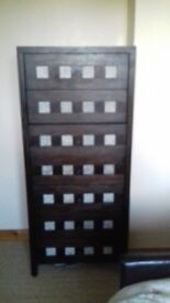 Dark brown dresser solid wood