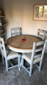 BRAND NEW-Solid Oak Dining Table and Chairs