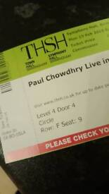 Bargain! 2 x Paul Chowdhry Tickets Mon 19th Feb 2018