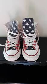Converse high tops stars and stripes