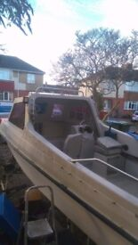 Solent fisher 510 17ft fishing boat