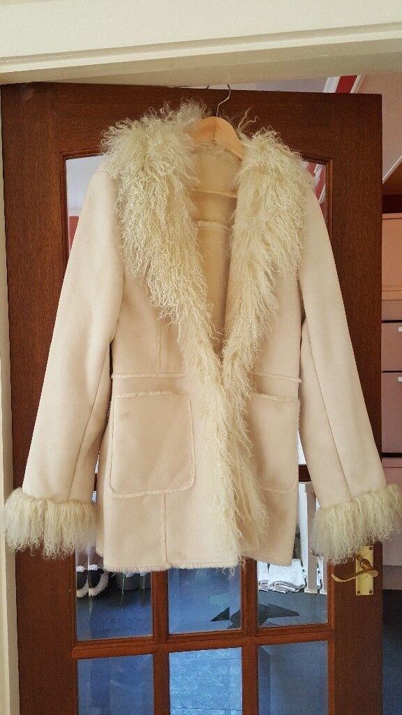 sheepskin jacket medium/large