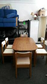 5' kitchen table and 6 chairs