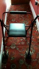 Sit on zimmer frame