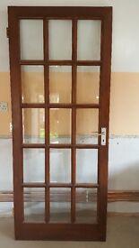 Mahogany Hardwood Door.