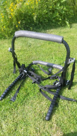Bicycle carrier. single, low mount. Complete with all straps and fittings, adjustable