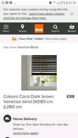 Cana wooden Venetian blinds 180cm x 180cm new! were £88