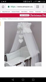 Cot bed canopy complete