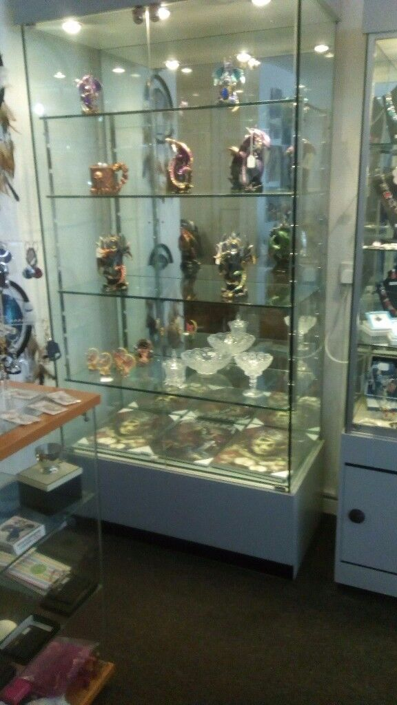glass cabinets (cabinets are in Hawick)