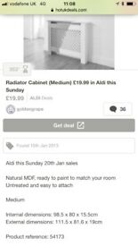 Aldi Medium Sized Radiator Cover
