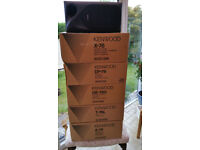 VINTAGE KENWOOD STEREO SYSTEM WITH SPEAKERS