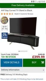 AVF bay curved tv stand in black