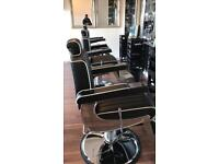 Belmont style barber chairs brand new