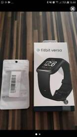 Brand new fitbit versa with screen protector case