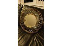 Circle metal mirror
