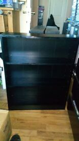 SMALL BLACK BOOKCASE