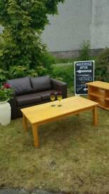 Livingroom starter set brown 2 seaters tv units coffee tables lots avalible all 3 for only £50
